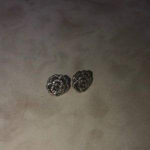 Pandora rose earrings